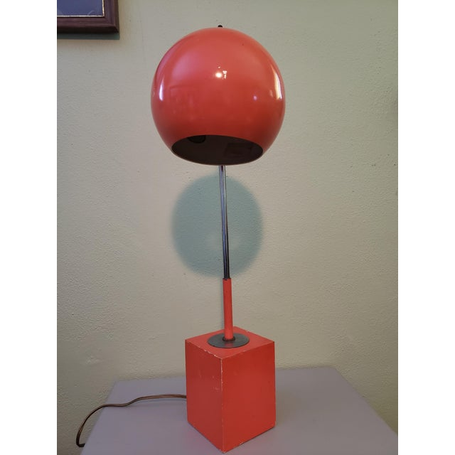 1960s 1960s Vintage Mid Century Eyeball Table Lamp For Sale - Image 5 of 5