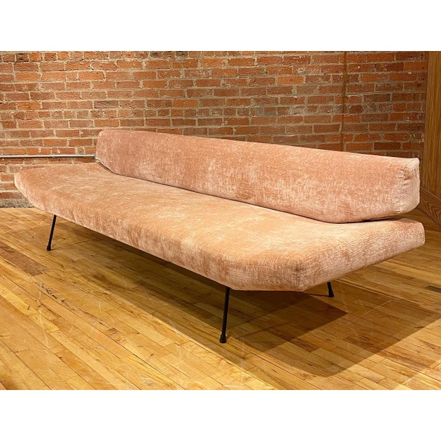 Adrian Pearsall 1950s Adrian Pearsall Iron Frame Sofa For Sale - Image 4 of 6
