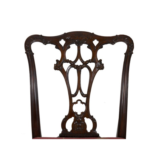 20th Century English Antique Carved Mahogany Dining Chairs - Set of 6 For Sale - Image 12 of 13
