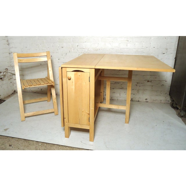 Mid-Century Modern Drop Leaf Table For Sale - Image 9 of 9