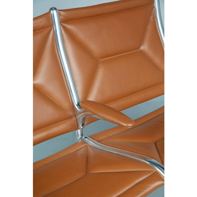 Animal Skin Edelman Leather Two-Seat Tandem Sling by Charles Eames for Herman Miller For Sale - Image 7 of 11