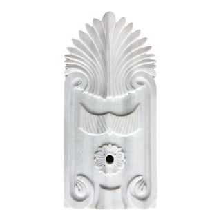 Hand-Carved Antique Marble Fountain Plate For Sale