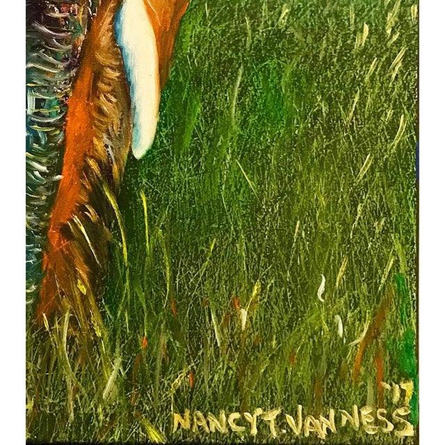 Original Oil Painting of Elephant, Framed For Sale - Image 9 of 11