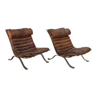 """Pair of Arne Norell """"Ari"""" Lounge Chairs"""