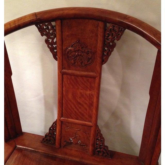 19th Century Hardwood Horseshoe Chairs - A Pair - Image 4 of 7