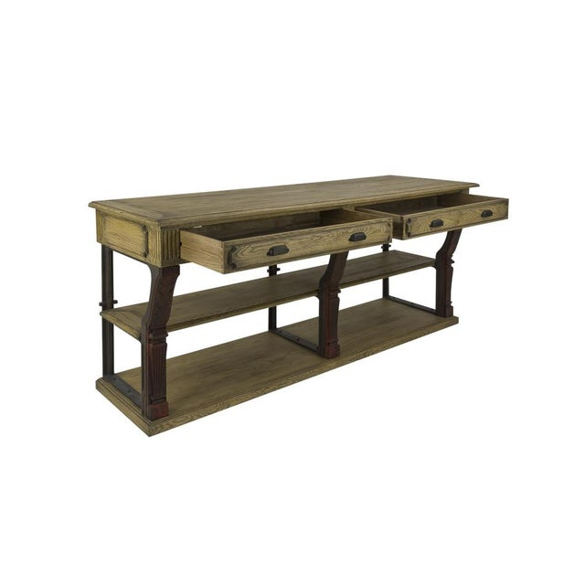 Early 21st Century Antique Oak Barley Console For Sale - Image 5 of 6