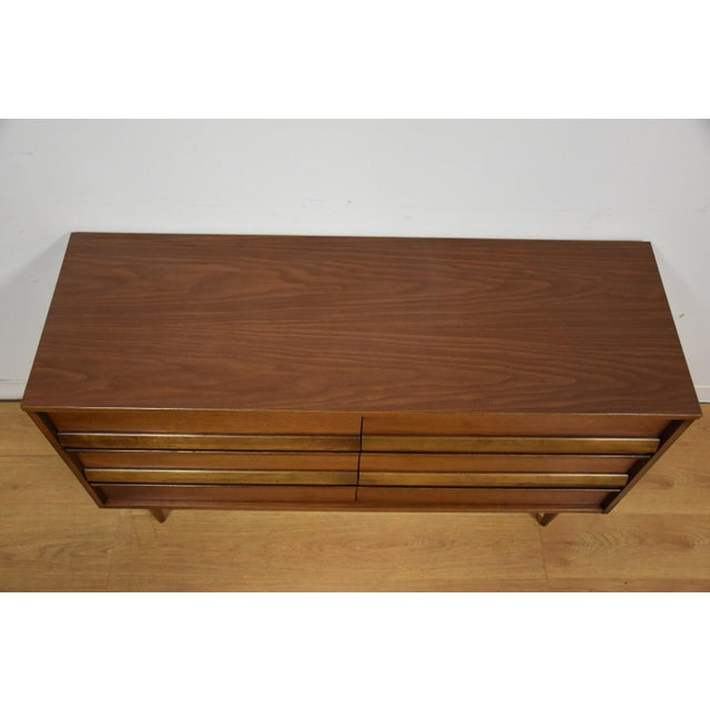 Bassett Walnut & Formica Dresser For Sale - Image 5 of 9