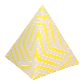 Contemporary Custom Frette Pyramidal Cushion