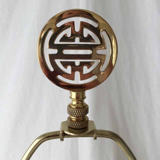 Asian Vintage Brass Lamp For Sale - Image 3 of 6