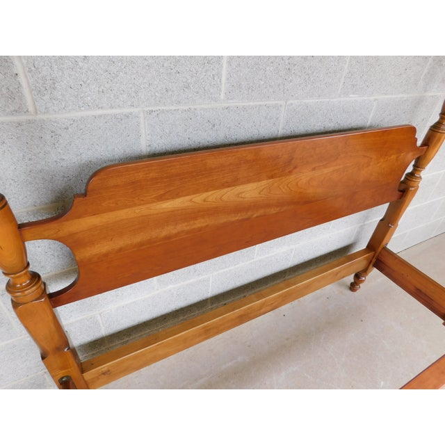 L. & J.G. Stickley, Inc. L & J G Stickley Cherry Valley Chippendale Style Full Size Poster Bed For Sale - Image 4 of 10