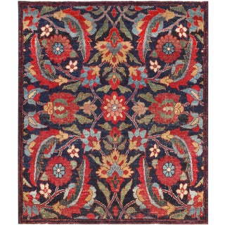Small Square Scatter Size Antique Persian Kerman Rug - 2′5″ × 2′9″ For Sale