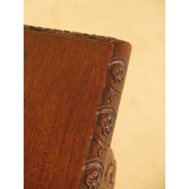 Wellington Hall Georgian Style Carved Mahogany Console Table - Image 8 of 11