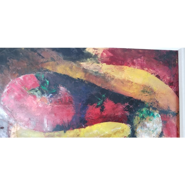 Abstract Abstract Painting by Lourdes, Still Life With Fruit For Sale - Image 3 of 10
