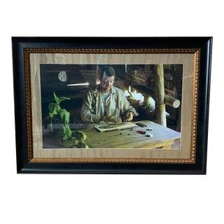 Custom Framed Cigar Roller Photograph
