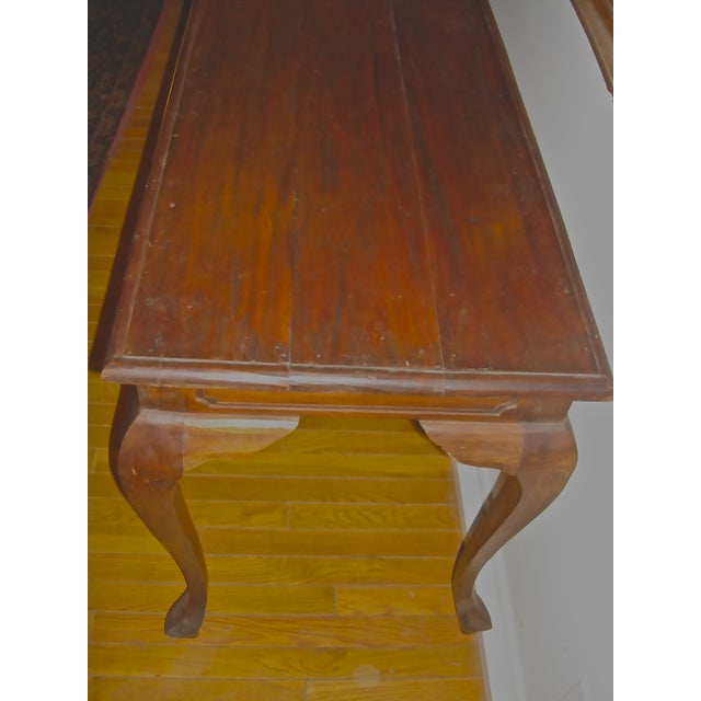 Handcrafted Antique Plank Top Sofa/Console Table - Image 3 of 10