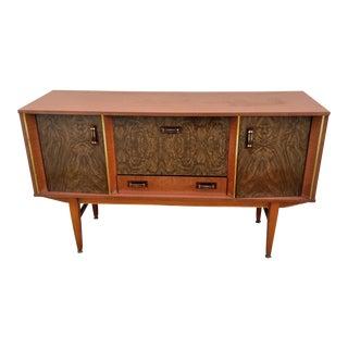 Mid Century Modern Wood Sideboard/Bar For Sale