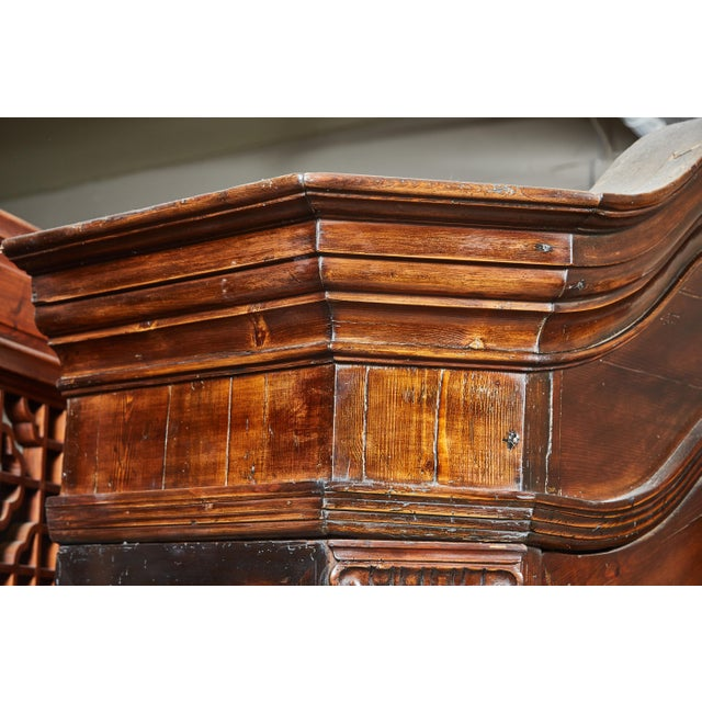 Pine 18th Century Danish Louis XVI Pine Two-Door Cabinet For Sale - Image 7 of 10