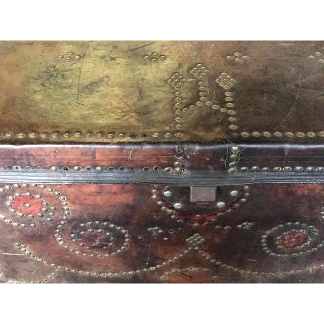 Boho Chic Antique Bishop's Trunk For Sale - Image 3 of 5