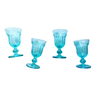 Azure Weighted Glasses - Set of 4 For Sale