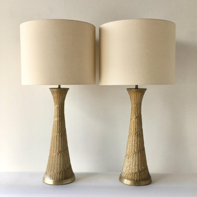 Pair of Faip Painted Ceramic Table Lamps 1950s For Sale - Image 4 of 4