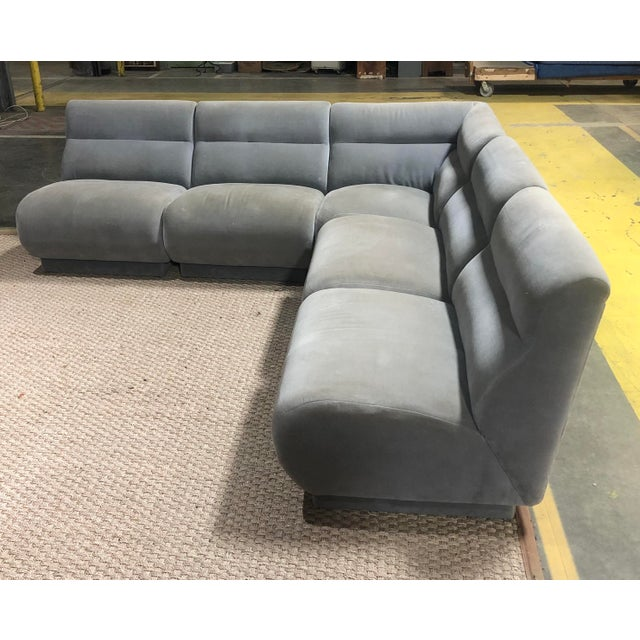 This space saving 5 piece modular sectional offers clean modern lines, neutral color pallet, well constructed. Made by...