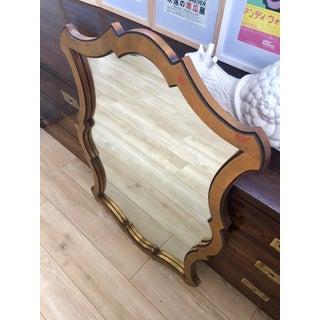 Vintage Arabesque Boho Gilt Wood Framed Mirror Preview