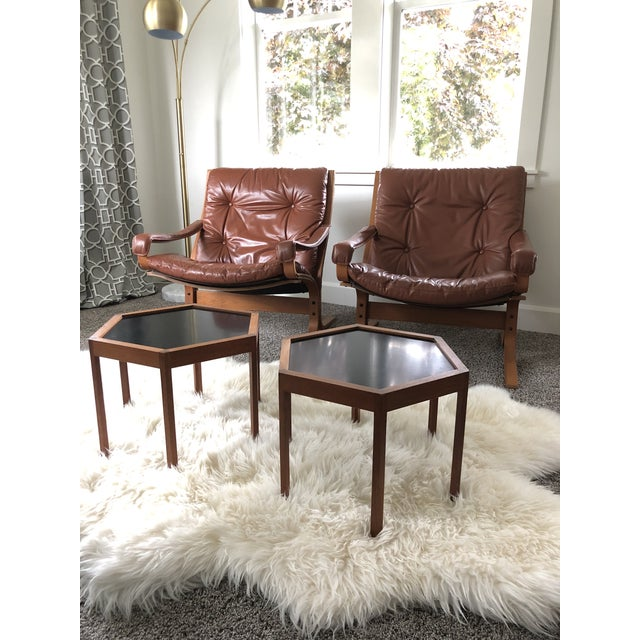 Vintage Mid Century Ingmar Relling Westnofa Leather Armchairs- a Pair For Sale - Image 10 of 10