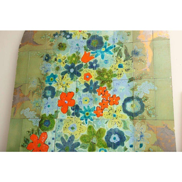 Ceramic Italian Hand-Painted Tile Panel from the Lobby of the Hilton Plaza, Miami Beach For Sale - Image 7 of 10