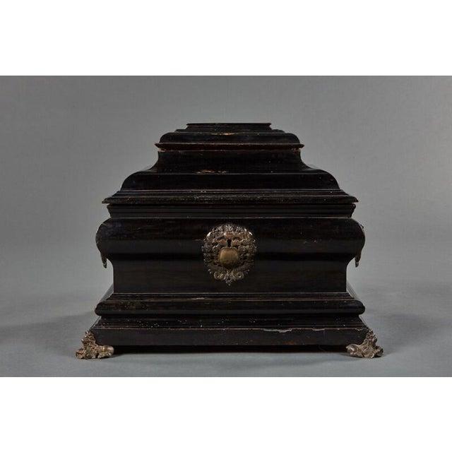 "Baroque An Imposing Ebonized Italian Wooden Baroque ""Coffretti"" For Sale - Image 3 of 8"