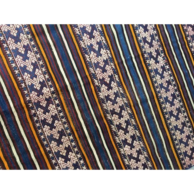 1980s Turkish Anatolian Handmade Cecim Kilim Rug For Sale In Houston - Image 6 of 8