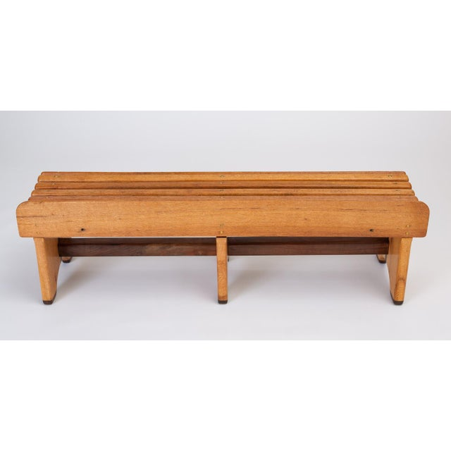 Andrew Stauss Studio Craft Bench in Oak and Walnut For Sale - Image 4 of 12