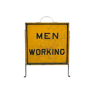 Men Working Sign For Sale