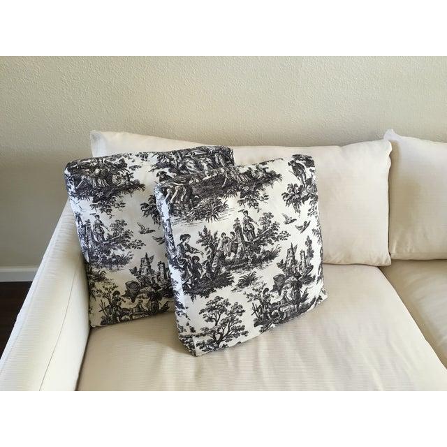 "Crate & Barrel 93"" Slipcover Lounge Sofa - Image 5 of 7"