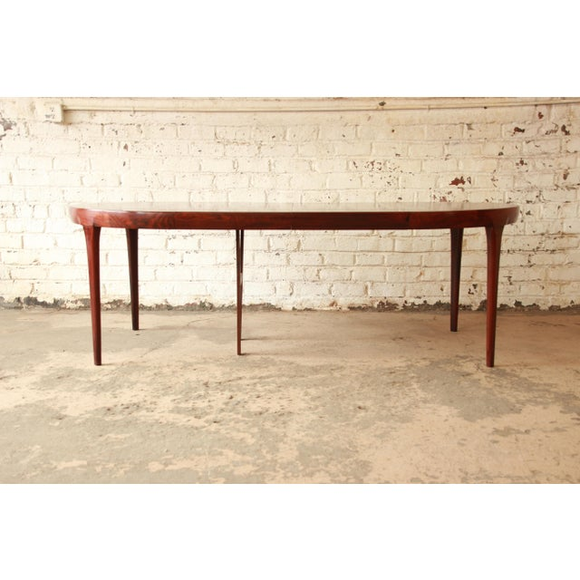 Danish Modern Ib Kofod Larsen Rosewood Extension Dining Table For Sale - Image 3 of 11