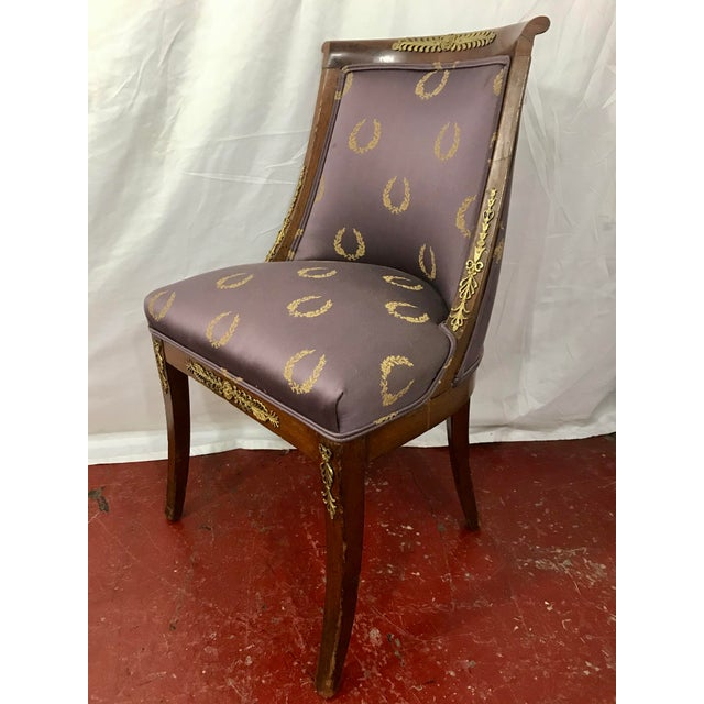 French Empire Side Chairs, a Pair For Sale - Image 11 of 12