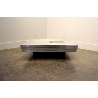 Pierre Cardin Steel and Chrome Coffee Table, 1970s Preview