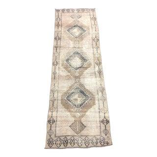 "Antique Turkish Wool Runner-3'1'x9'11"" For Sale"