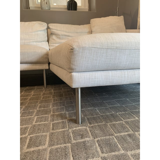 Modern Design Within Reach Sectional Sofa For Sale - Image 3 of 9
