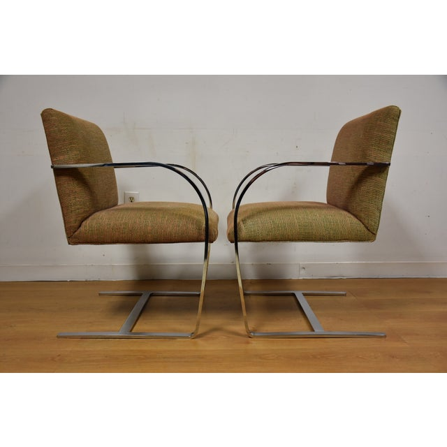 Cy Mann Chrome Flat Bar Lounge Chairs - a Pair - Image 3 of 9
