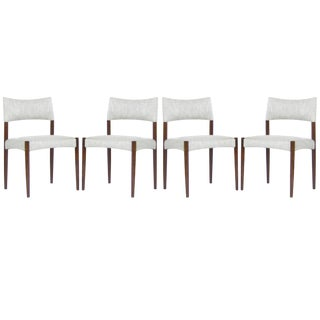 1960s Denmark Rosewood Side Chairs by Aksel Bender Madsen - Set of 4 For Sale