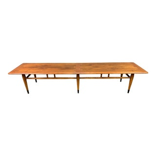 "Vintage Mid Century Modern Walnut ""Acclaim"" Coffee Table by Lane For Sale"