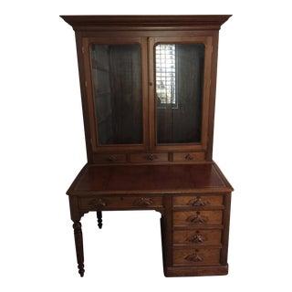 "Antique American Walnut Desk/Bookcase (""Secretary"")"