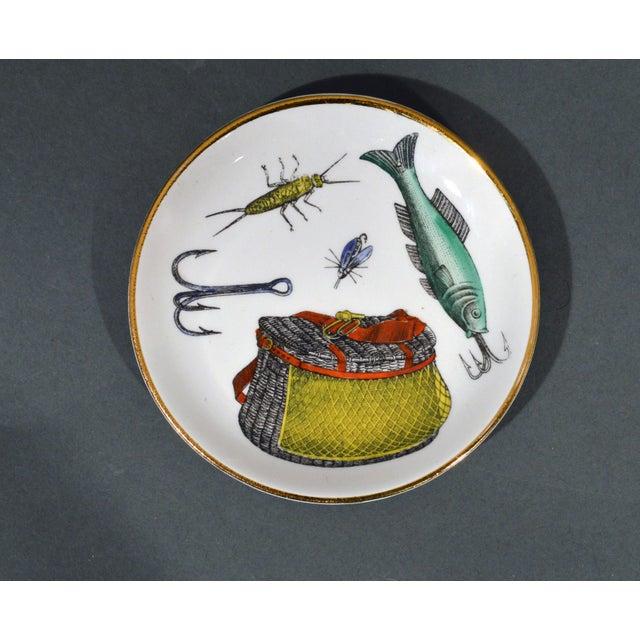 Piero Fornasetti La Pesca Fishing Lures Coaster Set With Original Box For Sale - Image 11 of 13