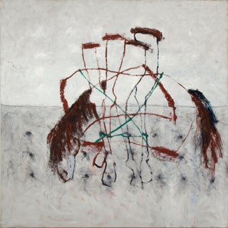 """Hobble Horse"" Sharon Schwartzmann - Contemporary Abstract Painting For Sale"
