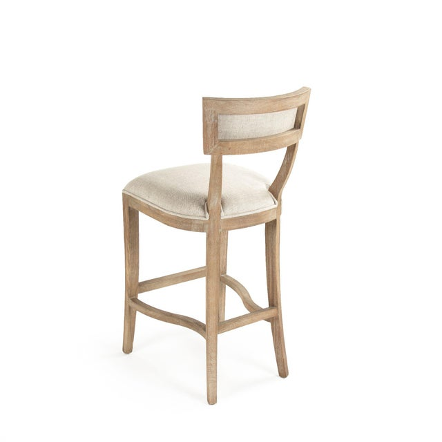 French Country Selborne Bar Stool in Cream For Sale - Image 3 of 6
