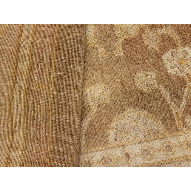 """Peshawar Audry Brown & Tan Wool Rug - 12' x 17'7"""" For Sale In New York - Image 6 of 7"""