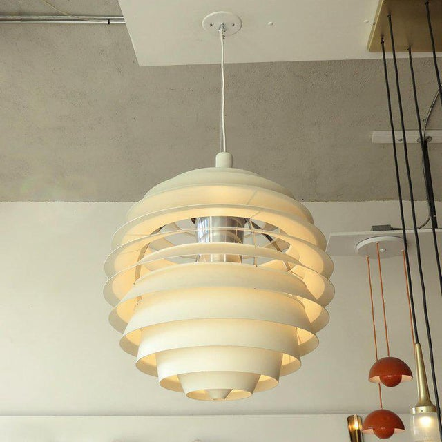 1960s Poul Henningsen Ph Louvre Pendant Light For Sale - Image 9 of 11