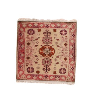 """Vintage Oushak Turkish Rug-2'10""""x2'10"""" For Sale"""