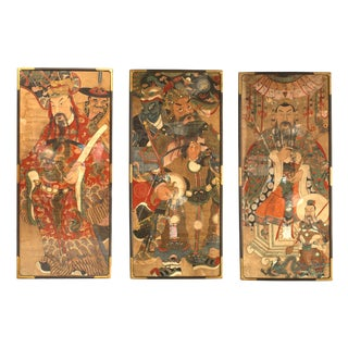 18th Century Chinese Watercolor Portraits-Set of 3 For Sale