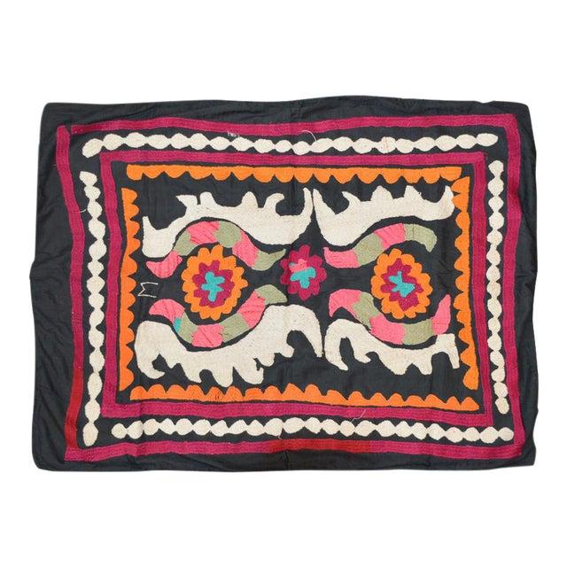 Vintage Turkish Uzbeki Suzani Textile - 2'7″ X 3'5″ For Sale